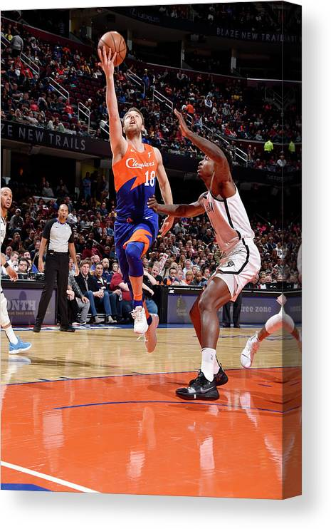 Nba Pro Basketball Canvas Print featuring the photograph Matthew Dellavedova by David Liam Kyle