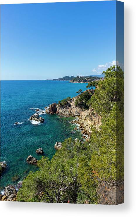 Lloret Canvas Print featuring the photograph Mediterranean Views From The Cami De Ronda by Vicen Photography