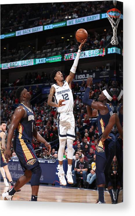 Nba Pro Basketball Canvas Print featuring the photograph Memphis Grizzlies v New Orleans Pelicans by Joe Murphy