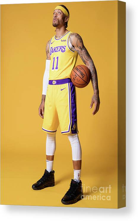 Media Day Canvas Print featuring the photograph Michael Beasley by Atiba Jefferson