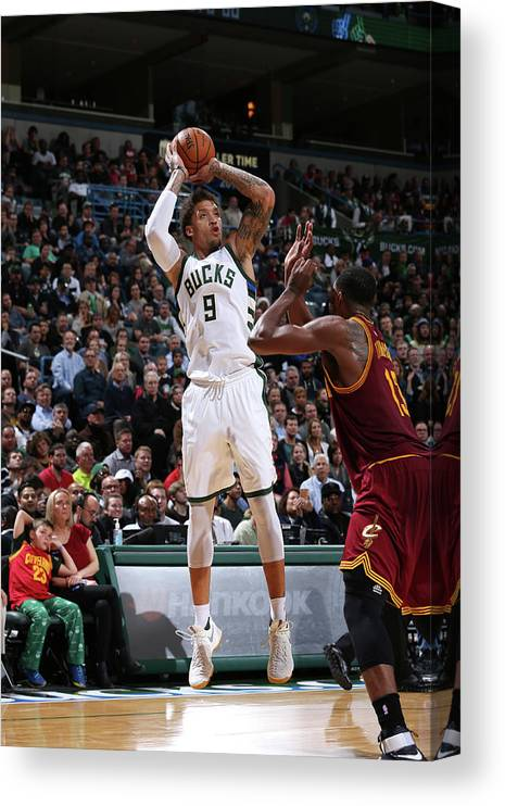 Michael Beasley Canvas Print featuring the photograph Michael Beasley by Gary Dineen