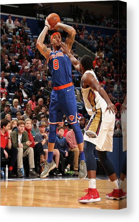 Smoothie King Center Canvas Print featuring the photograph Michael Beasley by Layne Murdoch