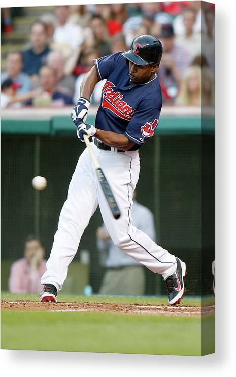 Michael Bourn Canvas Print featuring the photograph Michael Bourn by David Maxwell
