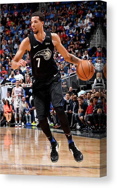 Nba Pro Basketball Canvas Print featuring the photograph Michael Carter-williams by Fernando Medina