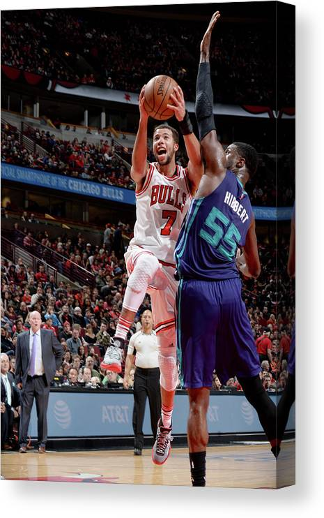 Nba Pro Basketball Canvas Print featuring the photograph Michael Carter-williams by Randy Belice