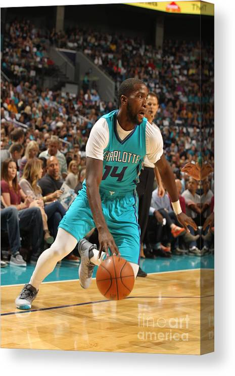 Sport Canvas Print featuring the photograph Michael Kidd-gilchrist by Brock Williams-smith