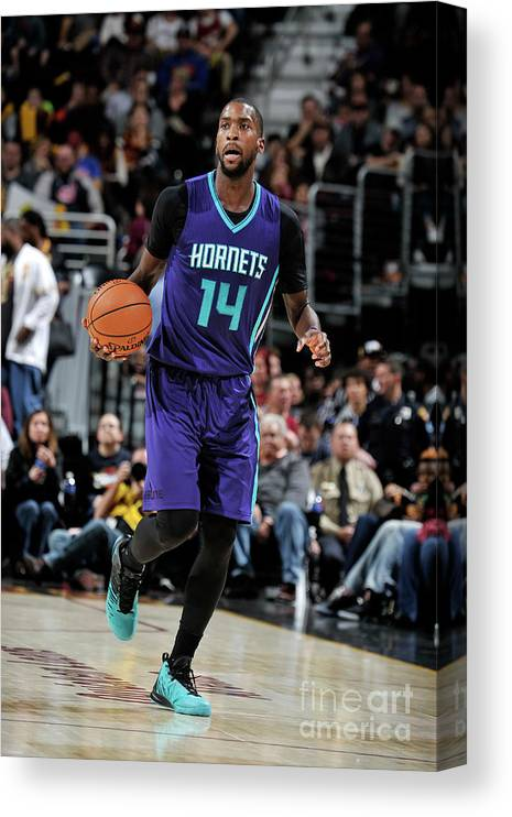 Nba Pro Basketball Canvas Print featuring the photograph Michael Kidd-gilchrist by David Liam Kyle