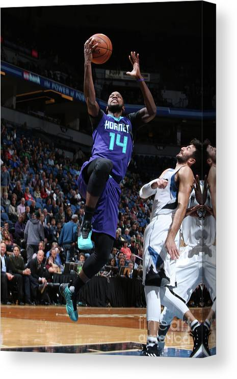 Nba Pro Basketball Canvas Print featuring the photograph Michael Kidd-gilchrist by David Sherman