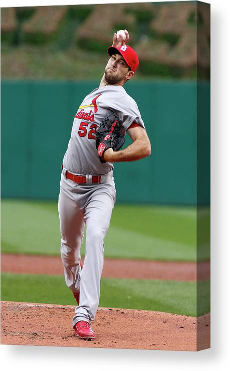 St. Louis Cardinals Canvas Print featuring the photograph Michael Wacha by Justin K. Aller