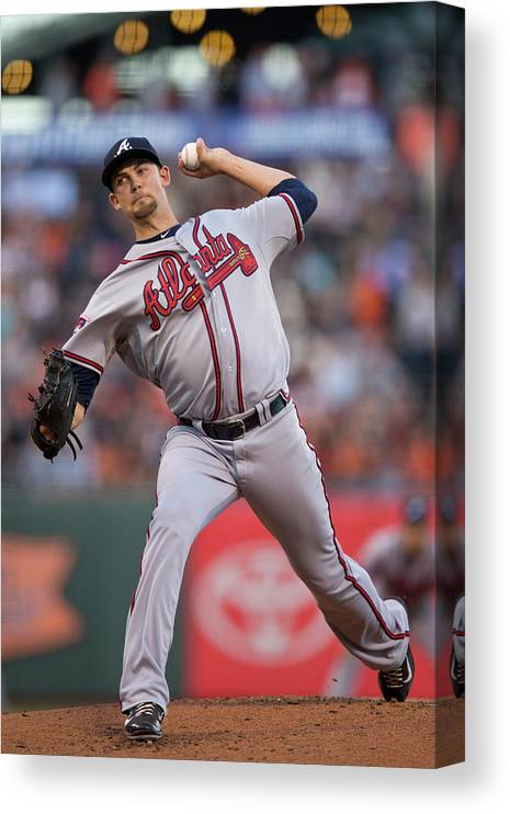 San Francisco Canvas Print featuring the photograph Mike Minor by Jason O. Watson