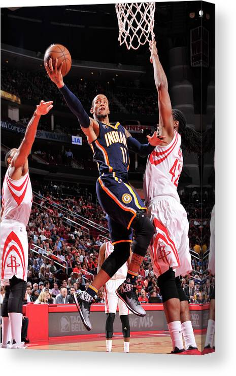 Nba Pro Basketball Canvas Print featuring the photograph Monta Ellis by Bill Baptist