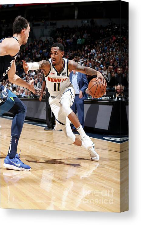 Nba Pro Basketball Canvas Print featuring the photograph Monte Morris by David Sherman