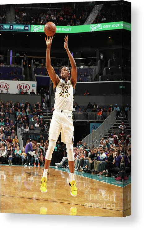 Nba Pro Basketball Canvas Print featuring the photograph Myles Turner by Kent Smith