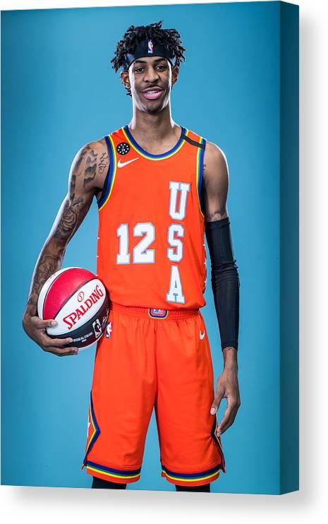 Nba Pro Basketball Canvas Print featuring the photograph NBA Rising Stars Challenge by Michael J. LeBrecht II