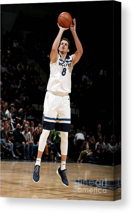 Nba Pro Basketball Canvas Print featuring the photograph Nemanja Bjelica by David Sherman