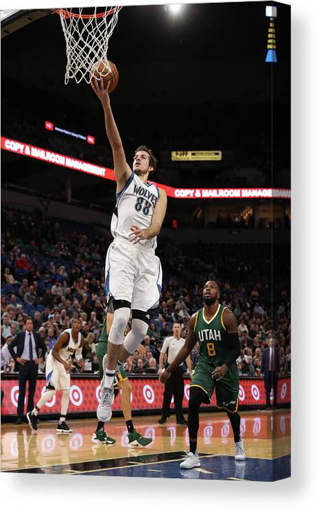 Nba Pro Basketball Canvas Print featuring the photograph Nemanja Bjelica by Jordan Johnson