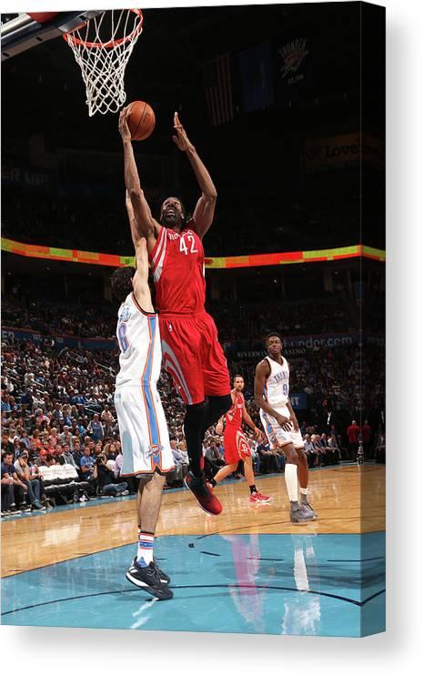 Nba Pro Basketball Canvas Print featuring the photograph Nene Hilario by Layne Murdoch