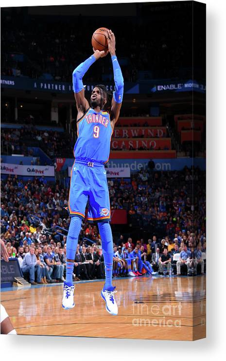 Nba Pro Basketball Canvas Print featuring the photograph Nerlens Noel by Bill Baptist