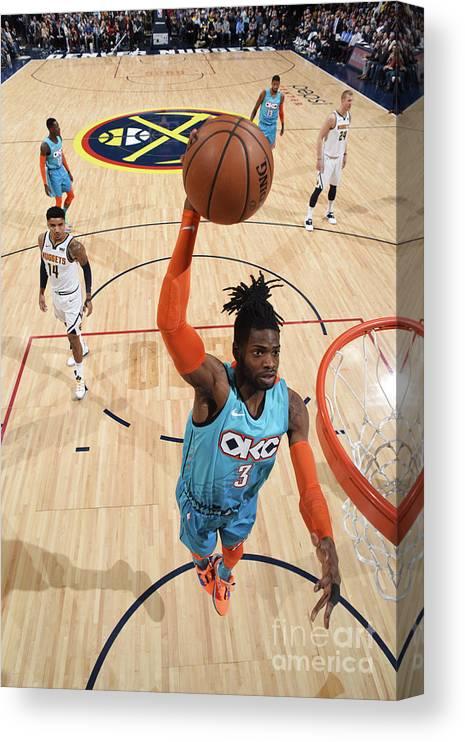 Nba Pro Basketball Canvas Print featuring the photograph Nerlens Noel by Garrett Ellwood
