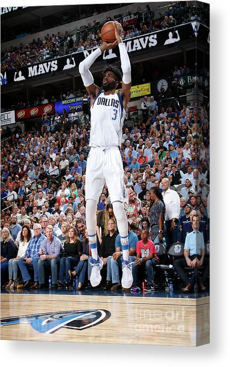Nba Pro Basketball Canvas Print featuring the photograph Nerlens Noel by Glenn James