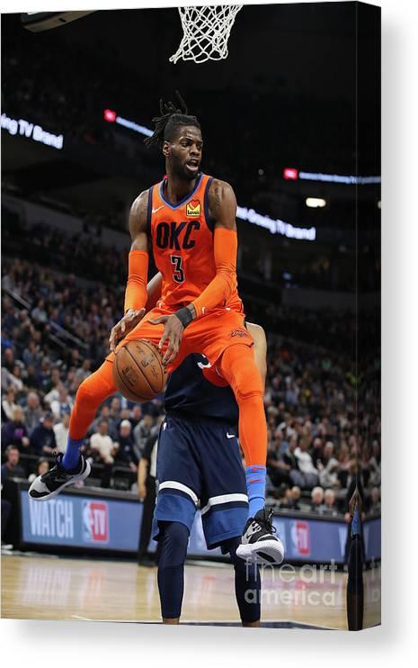 Nba Pro Basketball Canvas Print featuring the photograph Nerlens Noel by Jordan Johnson