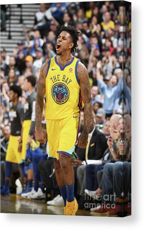 Nba Pro Basketball Canvas Print featuring the photograph Nick Young by Garrett Ellwood