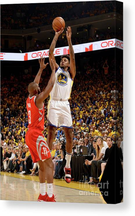 Playoffs Canvas Print featuring the photograph Nick Young by Noah Graham