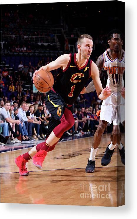 Nba Pro Basketball Canvas Print featuring the photograph Nik Stauskas by Michael Gonzales