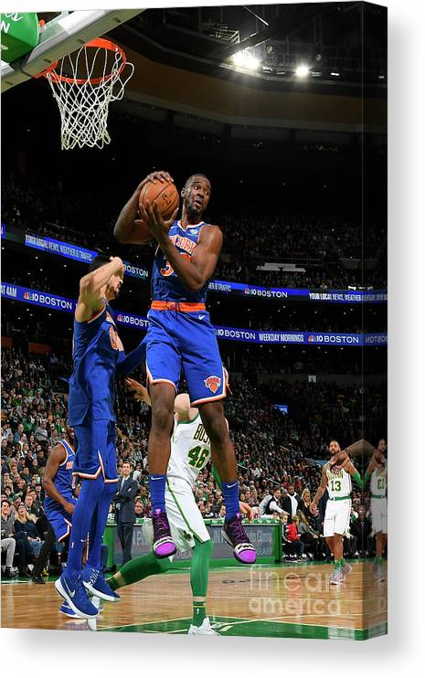 Nba Pro Basketball Canvas Print featuring the photograph Noah Vonleh by Brian Babineau