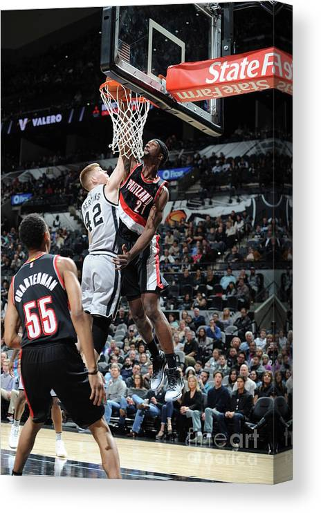 Nba Pro Basketball Canvas Print featuring the photograph Noah Vonleh by Mark Sobhani