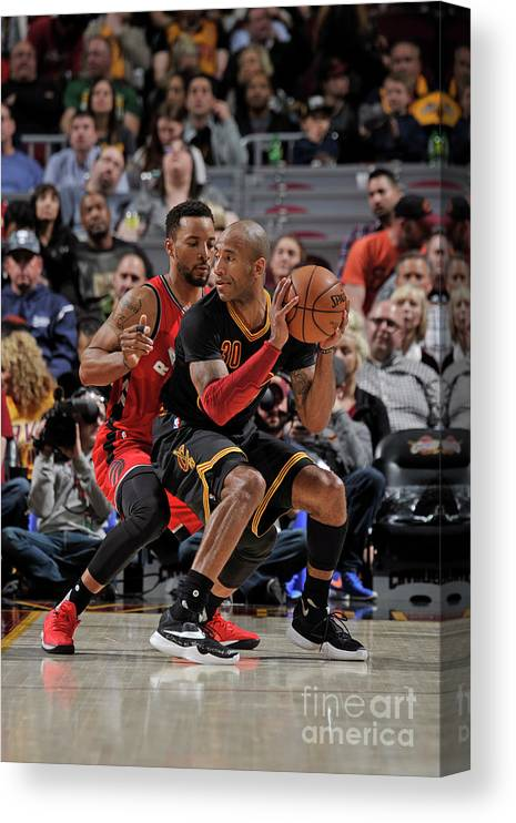 Nba Pro Basketball Canvas Print featuring the photograph Norman Powell and Dahntay Jones by David Liam Kyle