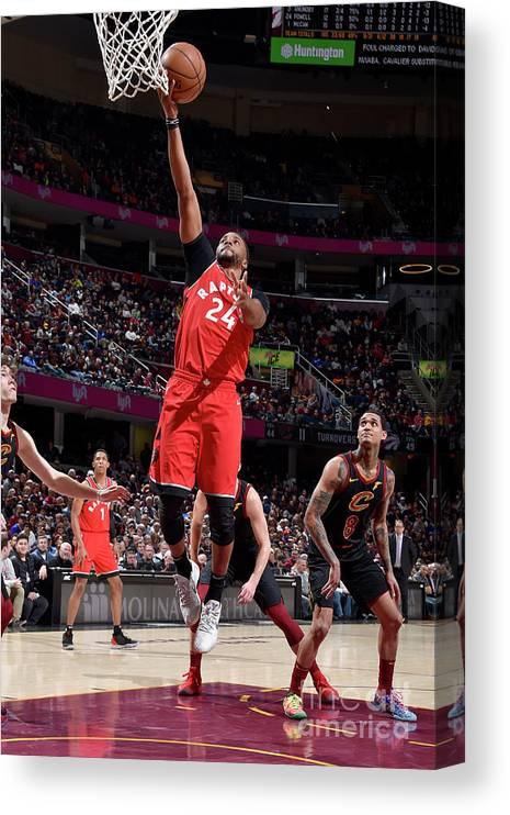 Nba Pro Basketball Canvas Print featuring the photograph Norman Powell by David Liam Kyle
