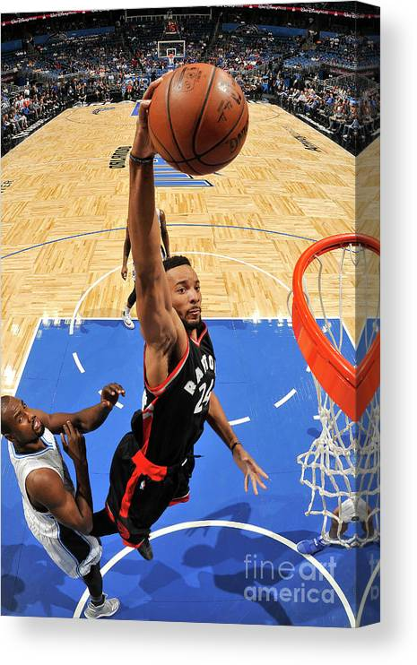 Nba Pro Basketball Canvas Print featuring the photograph Norman Powell by Fernando Medina