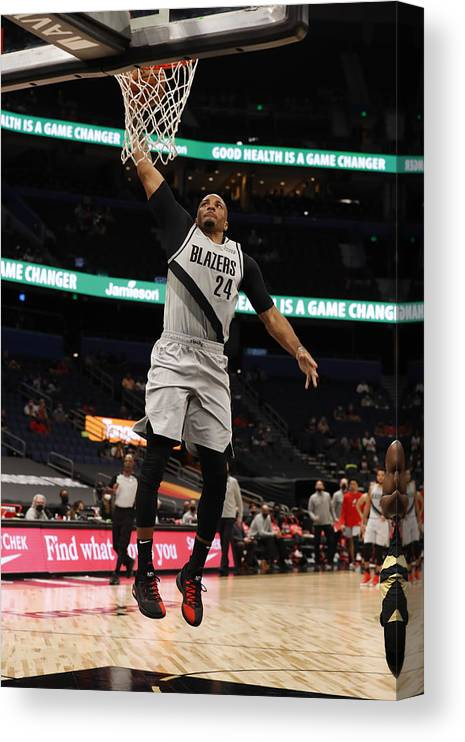 Nba Pro Basketball Canvas Print featuring the photograph Norman Powell by Scott Audette