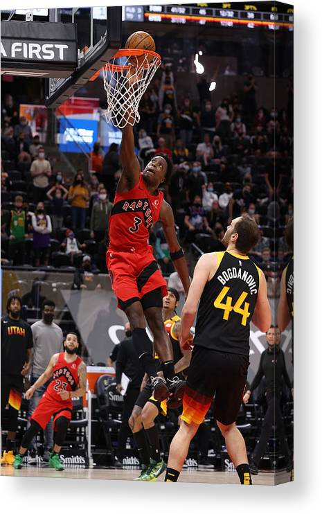 Nba Pro Basketball Canvas Print featuring the photograph Og Anunoby by Melissa Majchrzak