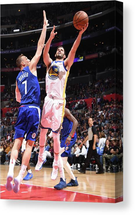 Nba Pro Basketball Canvas Print featuring the photograph Omri Casspi by Andrew D. Bernstein