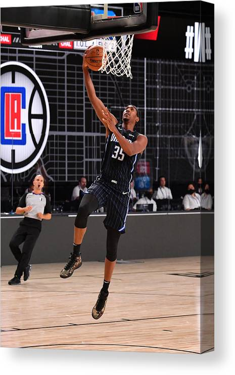 Nba Pro Basketball Canvas Print featuring the photograph Orlando Magic v Los Angeles Clippers by Jesse D. Garrabrant