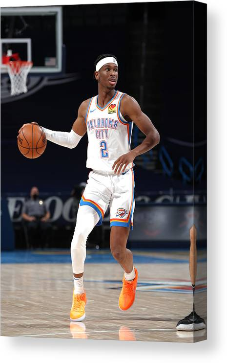 Nba Pro Basketball Canvas Print featuring the photograph Orlando Magic v Oklahoma City Thunder by Zach Beeker