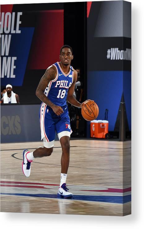 Nba Pro Basketball Canvas Print featuring the photograph Orlando Magic v Philadelphia 76ers by Jesse D. Garrabrant