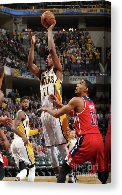 Nba Pro Basketball Canvas Print featuring the photograph Otto Porter by Gary Dineen