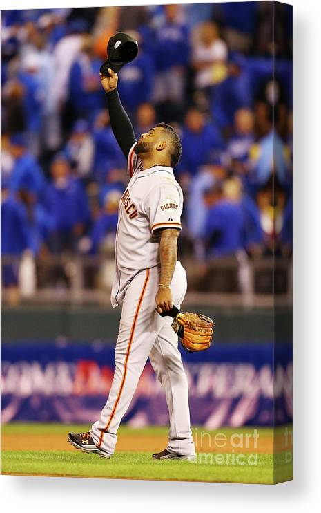 People Canvas Print featuring the photograph Pablo Sandoval by Dilip Vishwanat