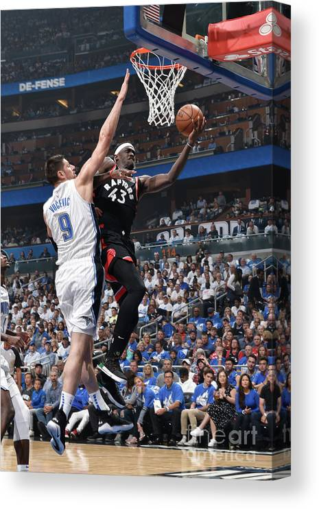Playoffs Canvas Print featuring the photograph Pascal Siakam by Gary Bassing