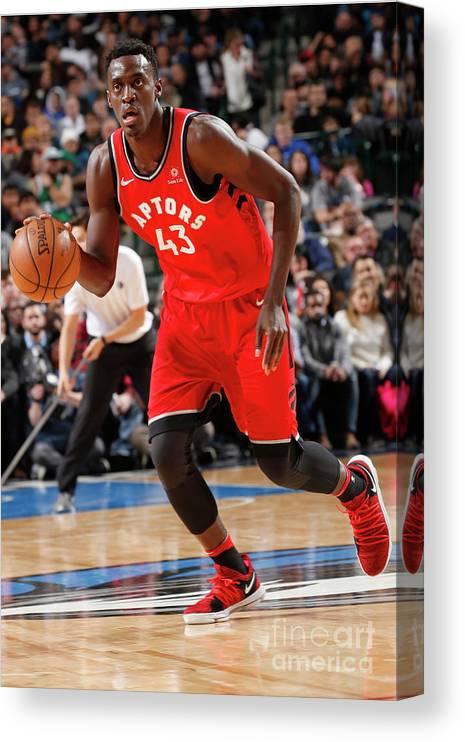 Nba Pro Basketball Canvas Print featuring the photograph Pascal Siakam by Glenn James