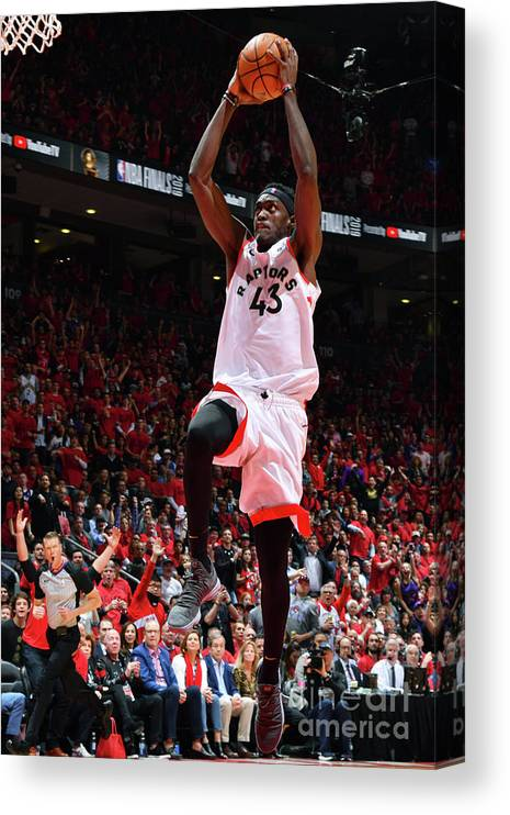 Playoffs Canvas Print featuring the photograph Pascal Siakam by Jesse D. Garrabrant