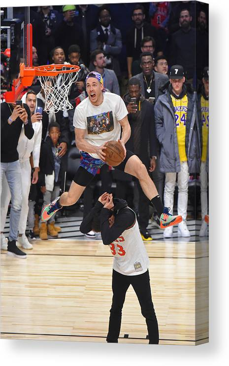 Nba Pro Basketball Canvas Print featuring the photograph Pat Connaughton by Bill Baptist