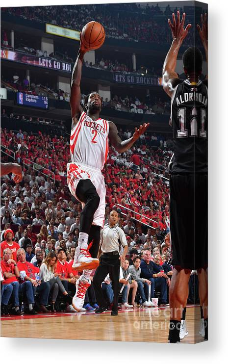 Playoffs Canvas Print featuring the photograph Patrick Beverley by Jesse D. Garrabrant