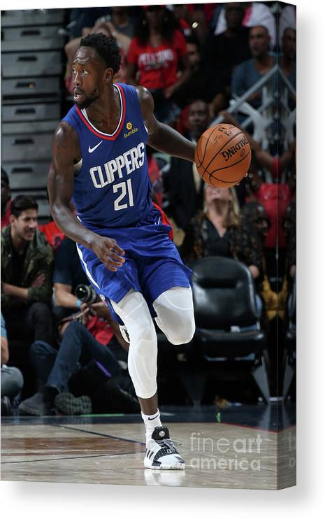 Smoothie King Center Canvas Print featuring the photograph Patrick Beverley by Layne Murdoch Jr.