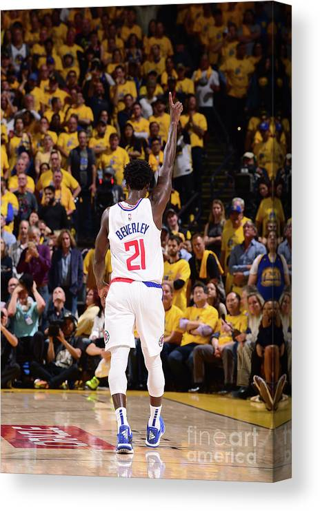 Playoffs Canvas Print featuring the photograph Patrick Beverley by Noah Graham