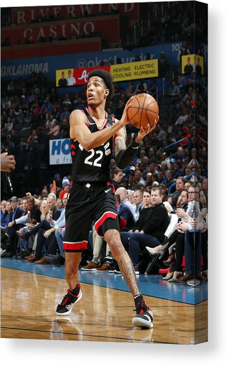 Nba Pro Basketball Canvas Print featuring the photograph Patrick Mccaw by Jeff Haynes