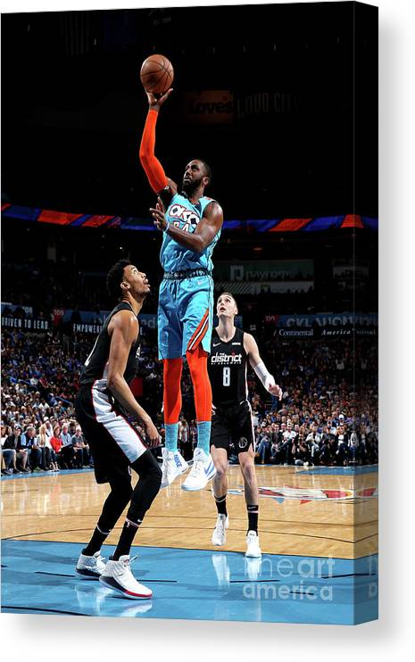Patrick Patterson Canvas Print featuring the photograph Patrick Patterson by Zach Beeker